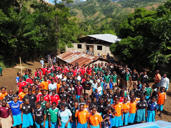 Donation of SUSC Jerseys to Children of Marbial, Haiti Brings Laughter and Joy