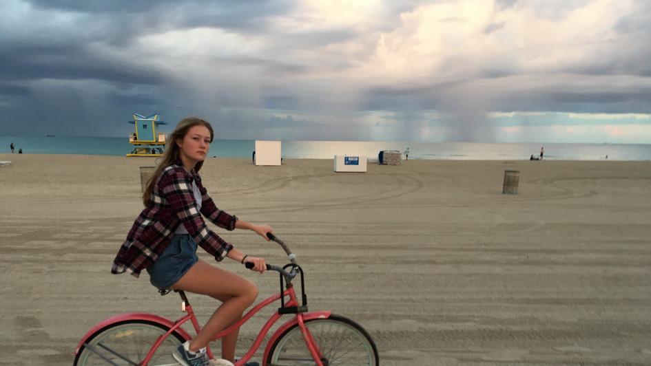 Bicyling on the Beach
