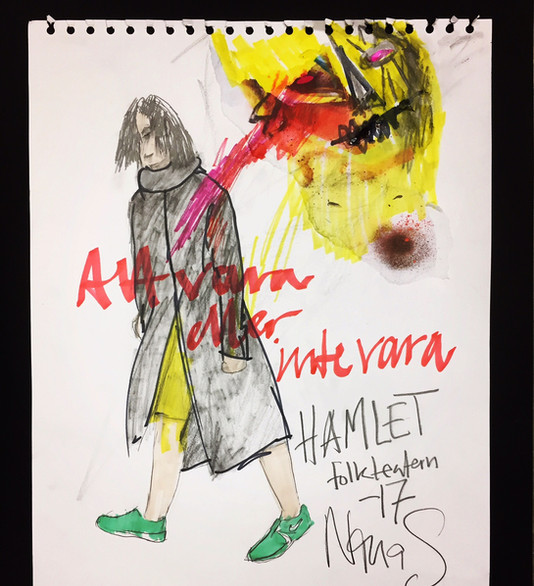 Costume Sketch Hamlet 2017