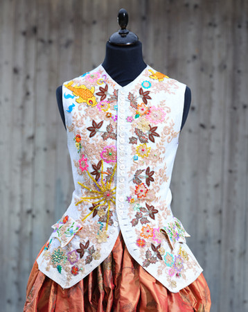 Hand embroidered vest