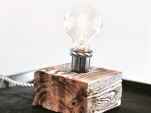 woodenchock-Lampe anthrazit