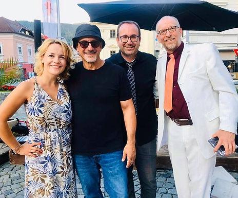 Sabine Neibesch (voc), Jörg Seidel (guit), Bob Bargard (hammond org), Klemens Marktl (dr) Friesach/Hauptplatz