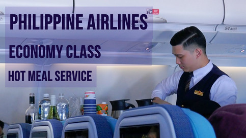 Philippine Airlines   Economy Class   Hot Meal Service