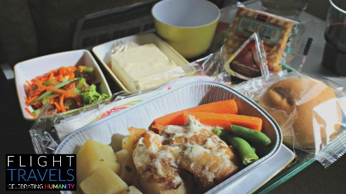 Lunch onboard Ethiopian Airlines, from Bangkok to Singapore
