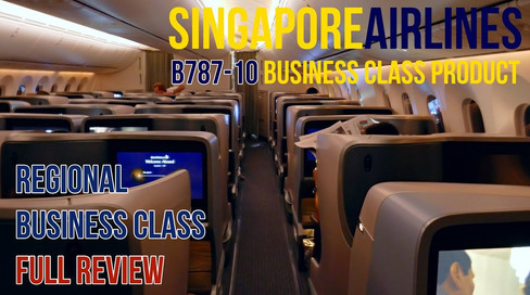Singapore Airlines | Regional Business Class Product