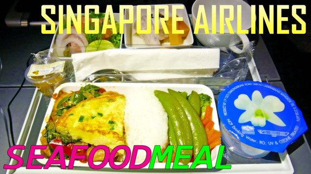 SINGAPORE AIRLINES | ECONOMY CLASS | SEAFOOD MEAL