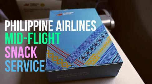 Philippine Airlines   Economy Class   Mid-Flight Snack Service
