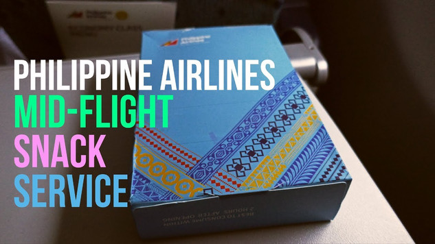 Philippine Airlines | Economy Class | Mid-Flight Snack Service