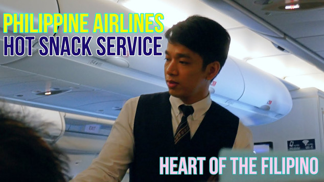 Philippine Airlines | Economy Class | Hot Snack Service