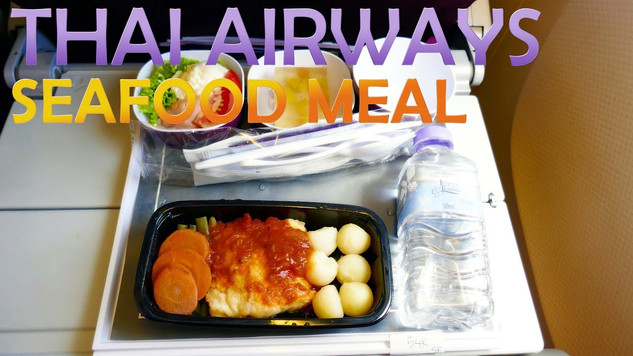 THAI AIRWAYS | ECONOMY CLASS | SEAFOOD MEAL