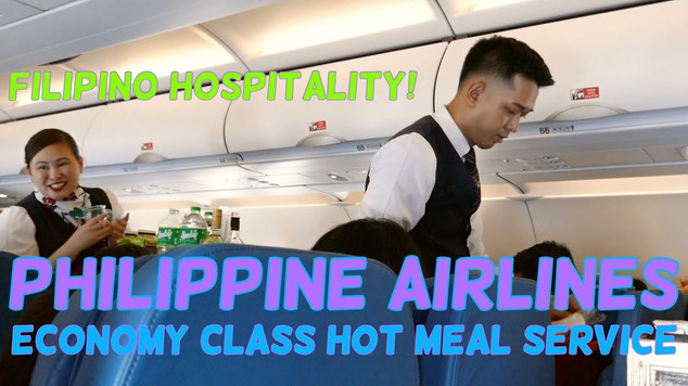 Philippine Airlines | Economy Class | Hot Meal Service