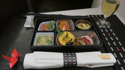 Japan Airlines | Business Class | Dinner Service
