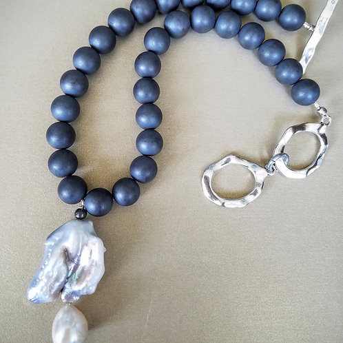 Druzey & Pearl Necklace