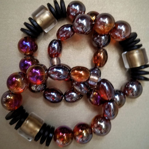 Multi-Colored Chunky Bracelet