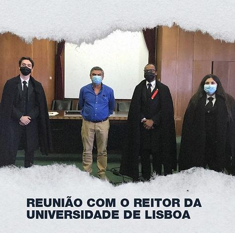 Reunião com o Reitor da Universidade de Lisboa