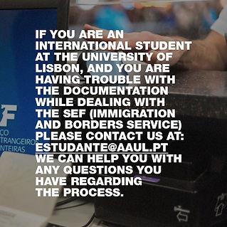 Apoio aos estudantes internacionais
