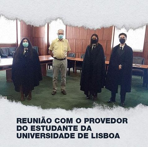 Reunião com o Provedor do Estudante da Universidade de Lisboa