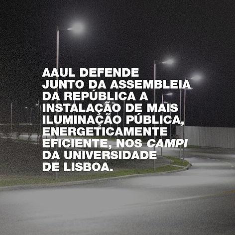 Instalação de mais iluminação pública nos campi da UL