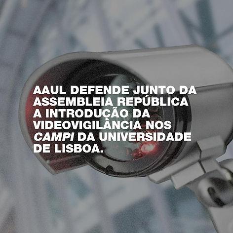 Introdução da videovigilância nos campi da UL