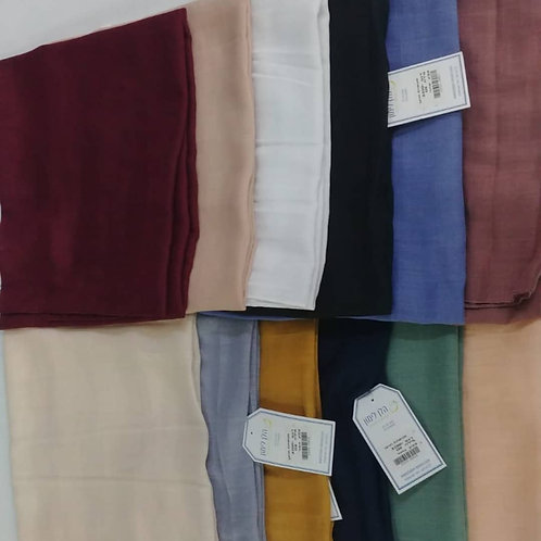 Solid square cotton scarves