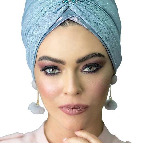 Light Blue Yeela Hat with Headband