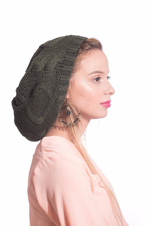 Large slouchy warm beret