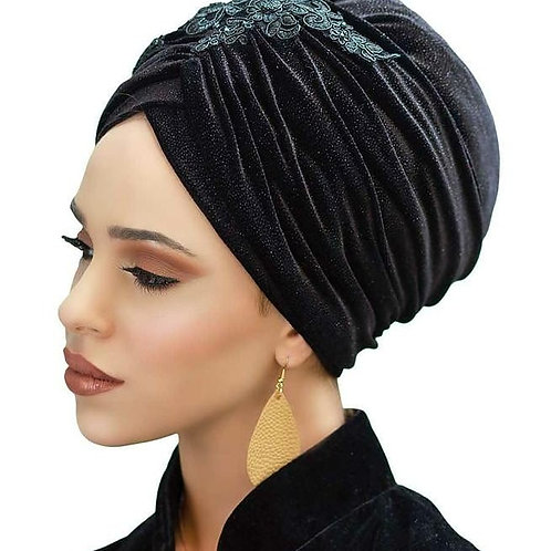 Yeela Black Hat with Headband