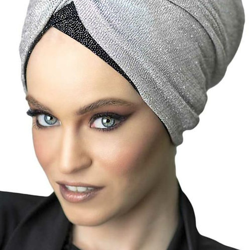 Yeela Prettied Black Hat with Silver Headband