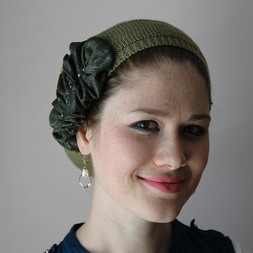 Olive Green French Beret