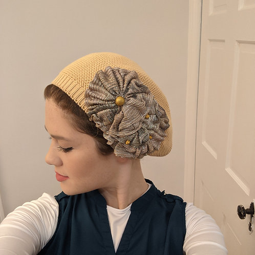 Peach French Beret