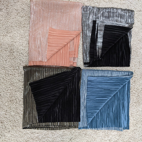 2 toned pleated scarves
