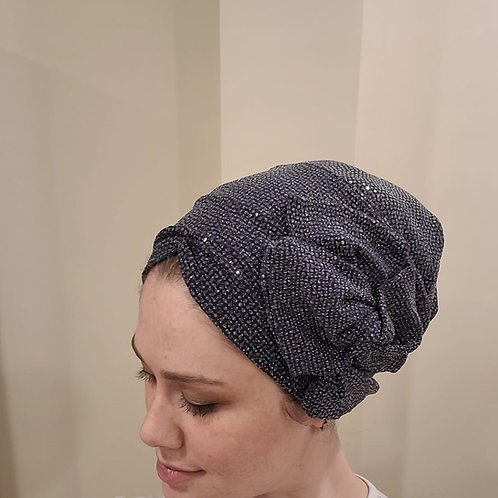 Blue Shimmery Pretied Hat