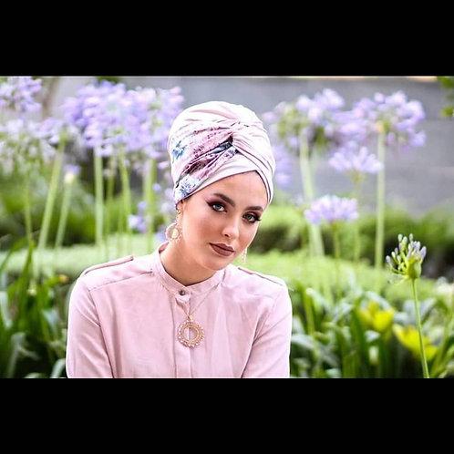 Light pink hat with turban Headband