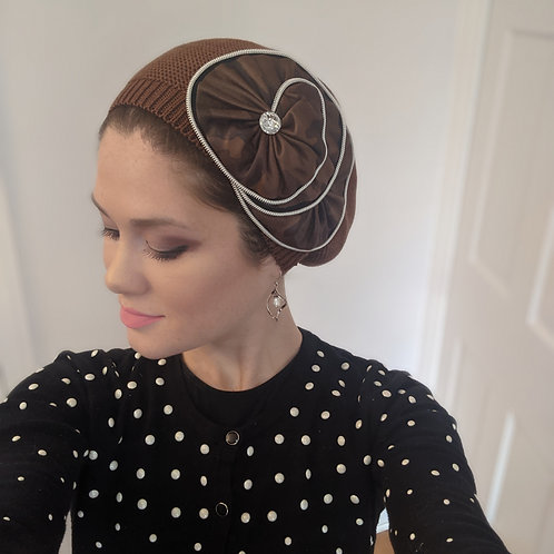 Brown French Beret