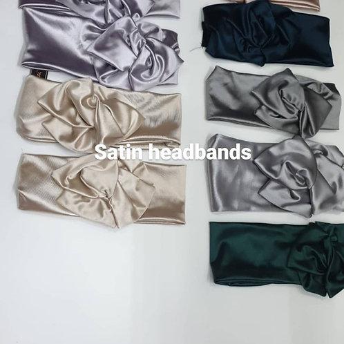 Satin Headbands with Velcro