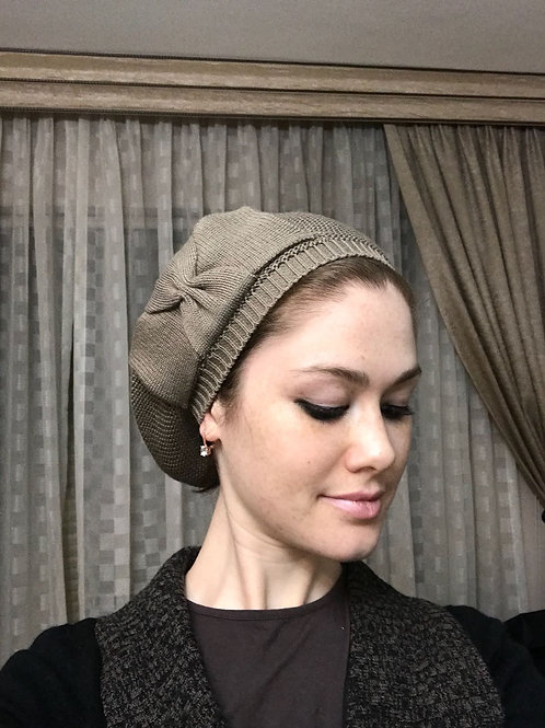 Cotton Beret with bow