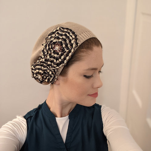 Beige French Beret