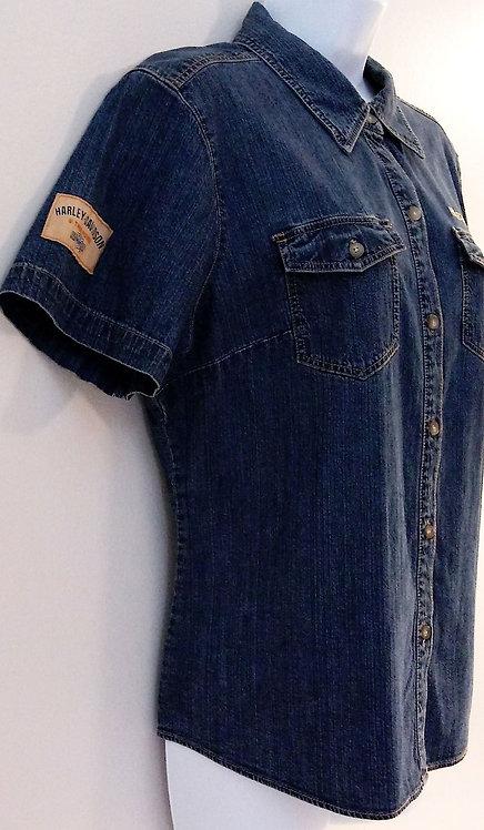 HARLEY DAVIDSON Denim Shirt - Size XL