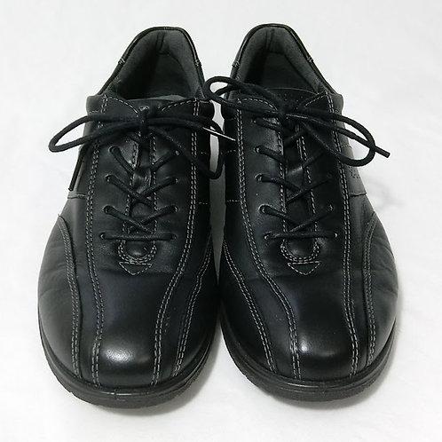 ECCO Women's Sky Tie Lace Up Black Comfort Work Shoes
