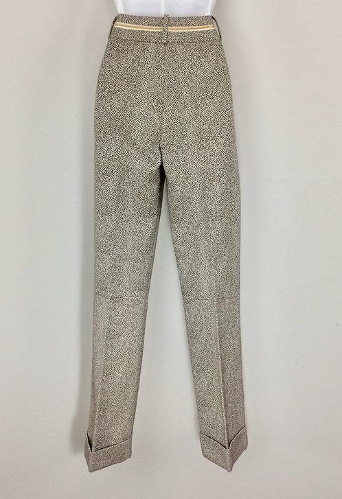 BORBONESE Cuffed Pants - Size 44 (US 8)