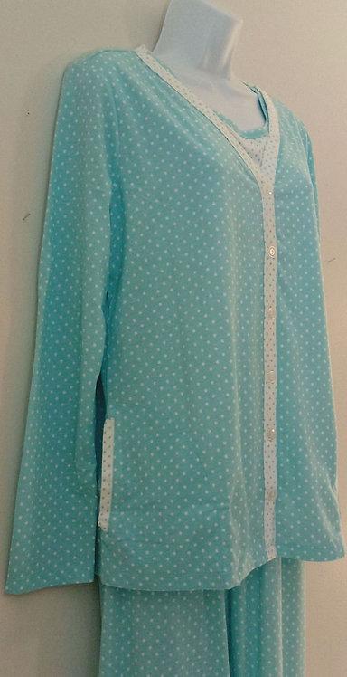 KIM ROGERS Intimates 3-Piece Pajama Set - Size S