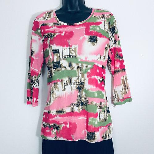 ZASHI ¾ Sleeve T-Shirt -Size S