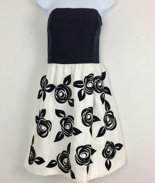 70d9520e0bf1 WHITE HOUSE BLACK MARKET Strapless Silk Dress - Size 8