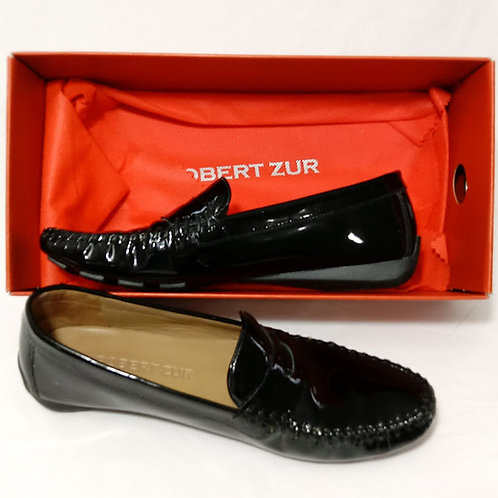 ROBERT ZUR - ALICE- Patent-Leather Loafers - Size 8M