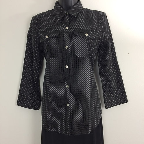 CHAPS 3/4 Sleeve Tailored Blouse - Size M