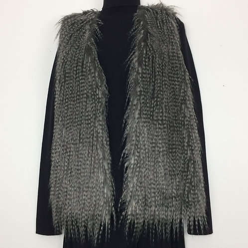 NEW DIRECTIONS Faux Fur Knit Vest - Size L
