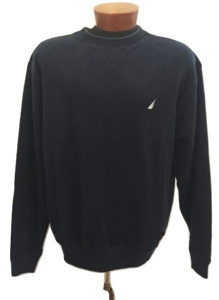 NAUTICA Navy Blue Sweatshirt - Men's Size M