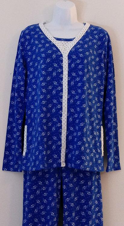 KIM ROGERS Intimates Dark Blue 3-pc. Pajama Set