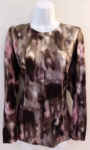 ANN TAYLOR Fitted Silk Blouse - Size 14