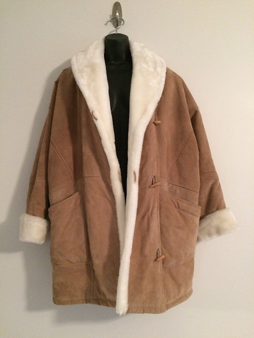 WILSON'S Suede Leather Coat - Women's Size M